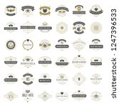 wedding titles and logos vector ... | Shutterstock .eps vector #1247396533