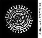 moonlight on chalkboard | Shutterstock .eps vector #1247399170