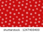snowflakes seamless pattern on... | Shutterstock . vector #1247403403