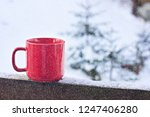 cup with coffee  tea on the... | Shutterstock . vector #1247406280
