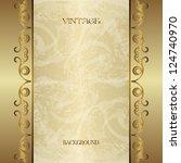 vintage gold background | Shutterstock .eps vector #124740970