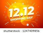 12.12 shopping day sale poster... | Shutterstock .eps vector #1247409856