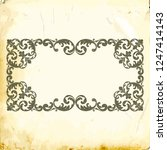 retro baroque decorations... | Shutterstock .eps vector #1247414143