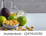 roasted salted corn in a bowl... | Shutterstock . vector #1247415250