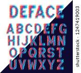 decorative alphabet letters... | Shutterstock .eps vector #1247419003