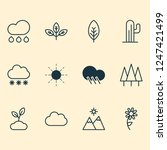nature icons set with daisy ... | Shutterstock . vector #1247421499