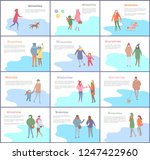 wintertime couple man and woman ... | Shutterstock .eps vector #1247422960