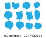 vector bubbles speech set. hand ... | Shutterstock .eps vector #1247423836
