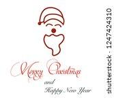 christmas or new year santa...   Shutterstock .eps vector #1247424310