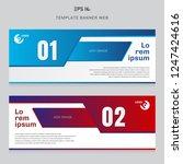banner web template layout... | Shutterstock .eps vector #1247424616