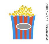 vector popcorn illustration.... | Shutterstock .eps vector #1247424880