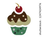 cupcake icon. flat illustration ... | Shutterstock .eps vector #1247424976