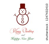 christmas or new year tree...   Shutterstock .eps vector #1247432410