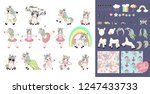 big set with unicorns and...   Shutterstock . vector #1247433733
