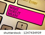 handwriting text what does it... | Shutterstock . vector #1247434939