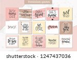 femimism hand drawn typography... | Shutterstock .eps vector #1247437036