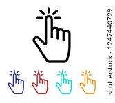 finger click icon vector. click....   Shutterstock .eps vector #1247440729