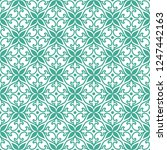 seamless ornamental pattern... | Shutterstock .eps vector #1247442163