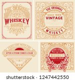set whiskey labes. vector... | Shutterstock .eps vector #1247442550