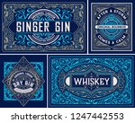 set packing labes. vector...   Shutterstock .eps vector #1247442553