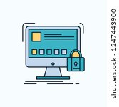 protect  protection  lock ... | Shutterstock .eps vector #1247443900