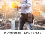 architect man working with  in... | Shutterstock . vector #1247447653
