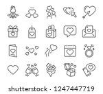 set of valentine's day icons ...