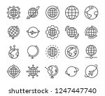 set of world map vector line... | Shutterstock .eps vector #1247447740