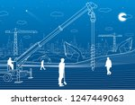construction plant. people... | Shutterstock .eps vector #1247449063