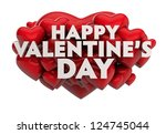 valentine's day greeting | Shutterstock . vector #124745044