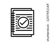 vector icon for summary | Shutterstock .eps vector #1247451169