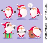 santa claus character... | Shutterstock .eps vector #1247453683
