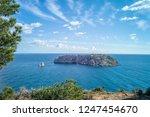 rocky coast of spain catalonia | Shutterstock . vector #1247454670