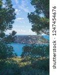 rocky coast of spain catalonia | Shutterstock . vector #1247454676