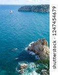 rocky coast of spain catalonia | Shutterstock . vector #1247454679