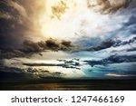 thunderstorm weather over the...   Shutterstock . vector #1247466169