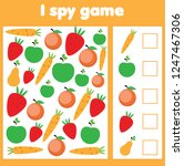 i spy game for toddlers. find... | Shutterstock .eps vector #1247467306