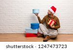 young crazy man celebrating... | Shutterstock . vector #1247473723