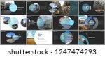 minimal presentations design ... | Shutterstock .eps vector #1247474293