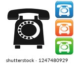 old telephone button icons set    Shutterstock .eps vector #1247480929