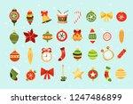 set of christmas elements.... | Shutterstock .eps vector #1247486899