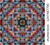 seamless pattern handkerchief... | Shutterstock . vector #1247487700