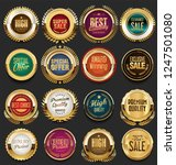 golden retro vintage badges and ... | Shutterstock .eps vector #1247501080