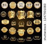 golden retro vintage badges and ... | Shutterstock .eps vector #1247501083