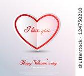 paper heart valentines day... | Shutterstock .eps vector #124750210