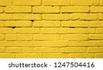 yellow color brick wall texture ... | Shutterstock . vector #1247504416