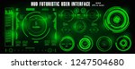 hud futuristic green user... | Shutterstock .eps vector #1247504680