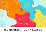 creative cartoon color splash... | Shutterstock .eps vector #1247513593