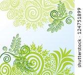 floral pattern background... | Shutterstock .eps vector #124751899