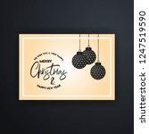 merry christmas 2019 banner... | Shutterstock .eps vector #1247519590